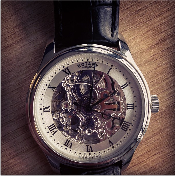 men s rotary vintage skeleton automatic watch gs02518 06 watch i purchased this for my partner for his birthday i was very happy it and as was he being able to see the inner workings of the watch make it extra