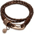 Ladies' Unique & Co PVD rose plating Leather Bracelet
