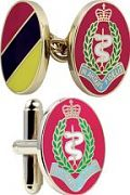Men's Smart Turnout Cufflinks PVD Gold plated Military