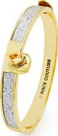 Ladies' Juicy Couture Gold Plated Glitter Hinged Bangle