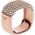 Ladies' Emporio Armani Sterling Silver Size P Pure Pave Ring