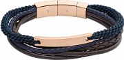 Mens Fossil Rose Gold Plated Vintage Casual Bracelet JF02379791