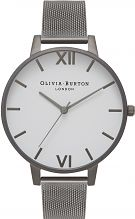 Olivia Burton Ladies Big White Dial Watch OB16BDW06