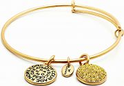 Ladies Chrysalis Gold Plated Good Fortune November Citrine Crystal Expandable Bangle CRBT0111GP