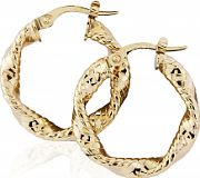Flat Twisted Hoop Earrings