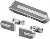 Emporio Armani Jewellery Gents Stainless Steel Cufflinks Gift Set EGS2258040