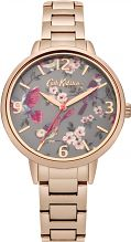 Ladies Cath Kidston British Birds Rose Gold Bracelet Watch CKL001RGM