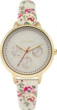 Ladies Cath Kidston Kingswood Rose Ivory Strap Multifunction Watch CKL003WG