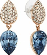 Ladies Lola & Grace Rose Gold Plated Castle Earrings 5287464