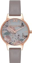 Ladies Olivia Burton Midi Floral London Grey Watch OB16EG67