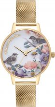 Ladies Olivia Burton English Garden Gold Mesh Watch OB16ER12