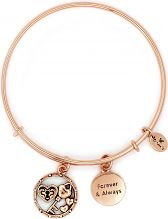 Ladies Chrysalis Rose Gold Plated Cherished Forever And Always Expandable Bangle CRBT2310RG