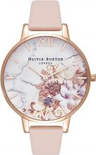Ladies Olivia Burton Marble Floral Nude Peach & Rose Gold Floral Watch OB16CS12