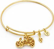 Ladies Chrysalis Gold Plated Spirited Music Expandable Bangle CRBT1208GP