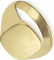Classic Oxford Cushion  Signet Ring Size X