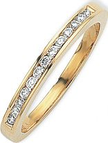 0.15ct tw VS Brilliant-cut Half Eternity Diamond Ring Size J