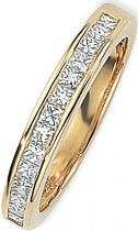0.50ct tw VS Princess-cut Half Eternity Diamond Ring Size M