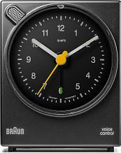 Braun Clocks Voice Activated Bedside Alarm Clock BNC004BKBK