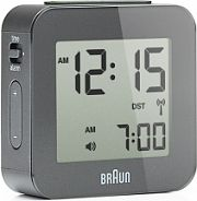 Braun Clocks Travel Alarm Clock Radio Controlled BNC008GY-RC