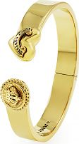 Juicy Couture Jewellery Ladies PVD Gold plated Heart And Coin Hinged Bangle WJW460-710