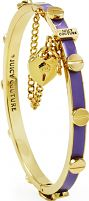Juicy Couture Jewellery Ladies PVD Gold plated Heart Padlock And Screw Enamel Bangle WJW535-530