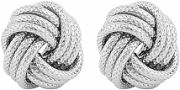 Ladies Essentials Sterling Silver Frosted Love Knot Earring AJ-37230875