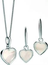 Ladies Fiorelli Sterling Silver Necklace & Earring Set E5115W-P4364W
