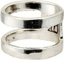 Mens Icon Brand Base metal Size Large Divided Ring P1063-R-SIL-LGE