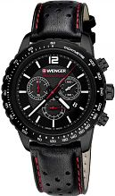 Mens Wenger Roadster Black Night Chrono Chronograph Watch 010853108