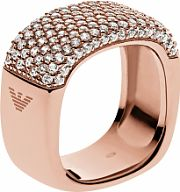 Ladies Emporio Armani Sterling Silver Size P Pure Pave Ring EG3264221508