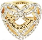 Ladies Juicy Couture PVD Gold plated Pave Open Heart Ring WJW826-710-7