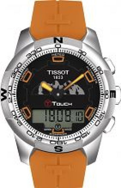 Mens Tissot T-Touch II Jungfrau Alarm Chronograph Watch T0474204705111