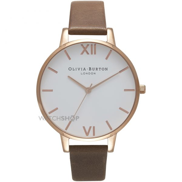 Ladies Olivia Burton White Dial Big Dial Watch OB16BDW20