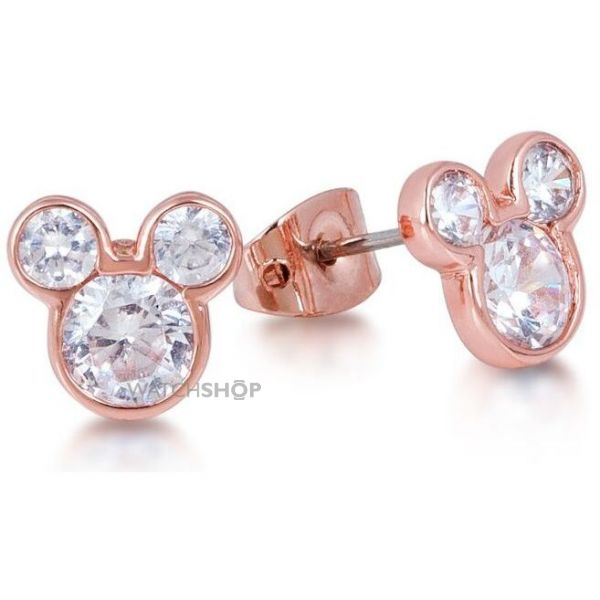 Disney Couture Ladies PVD rose plating Crystal Mickey Mouse Head Stud Earrings DRE456