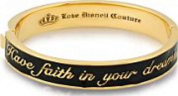 Ladies Disney Couture PVD Gold plated Cinderella Have Faith in Your Dreams Bangle DYB0389