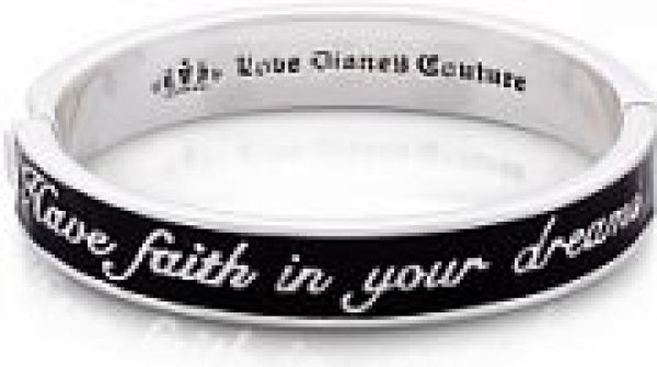 Ladies Disney Couture PVD Silver Plated Cinderella Have Faith in Your Dreams Bangle DSB0389