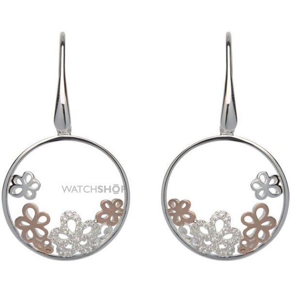 Ladies Unique Sterling Silver Floral Earrings ME-560