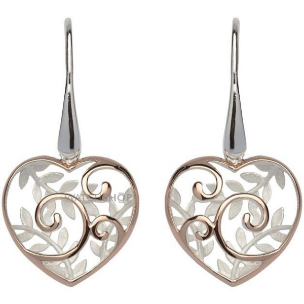 Ladies Unique Sterling Silver Heart Earrings ME-566