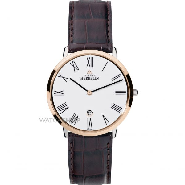 Mens Michel Herbelin Ikone Grande Watch 19515/TR01MA