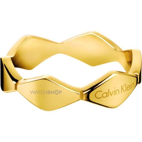 Ladies Calvin Klein PVD Gold plated Size L.5 Ring KJ5DJR100106