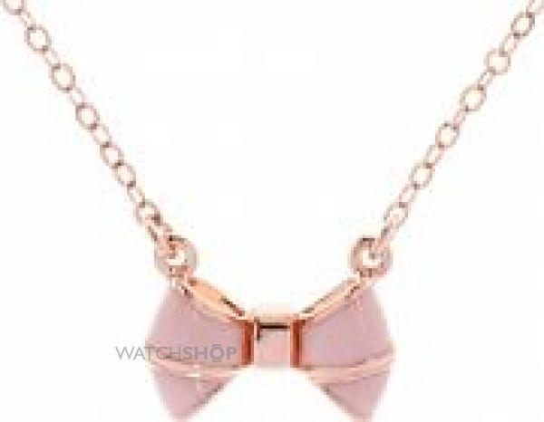 Ladies Ted Baker Rose Gold Plated Edda Enamel Baby Bow Pendant TBJ1103-24-134