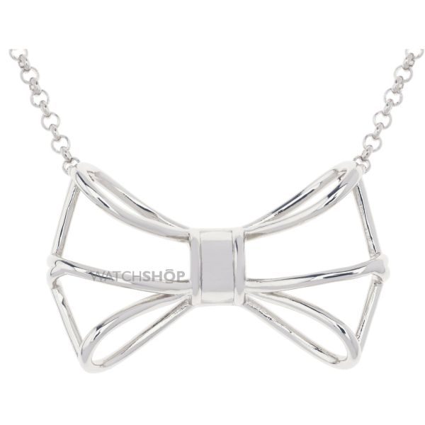 Ladies Ted Baker Silver Plated Giaani Geometric Bow Pendant TBJ1224-01-03