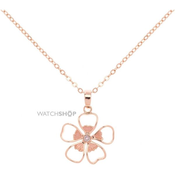 Ladies Ted Baker Gold Plated Lerene Enamel Small Flower Pendant TBJ1241-24-13