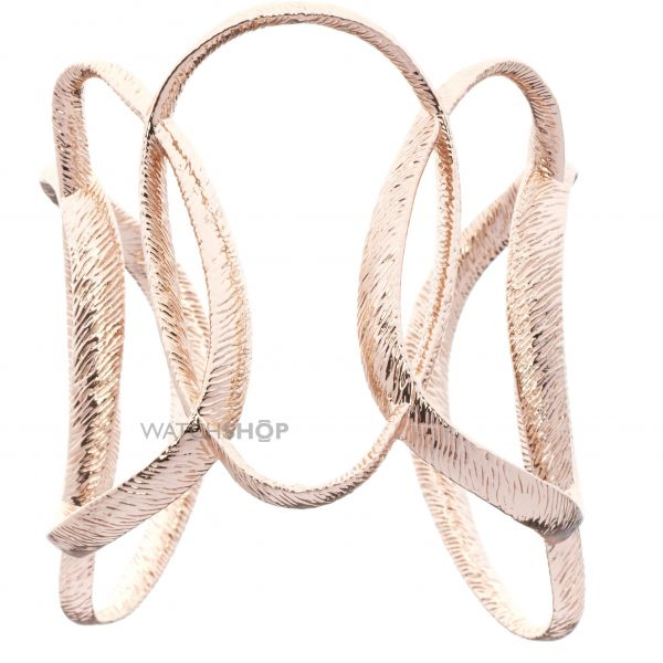 Ladies Ted Baker Rose Gold Plated Tamii Textured Hoop Cuff TBJ1284-24-03