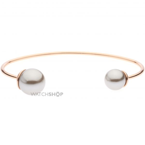 Ladies Ted Baker Rose Gold Plated Deliaa Double Pearl Ultrafine Cuff TBJ1296-24-102