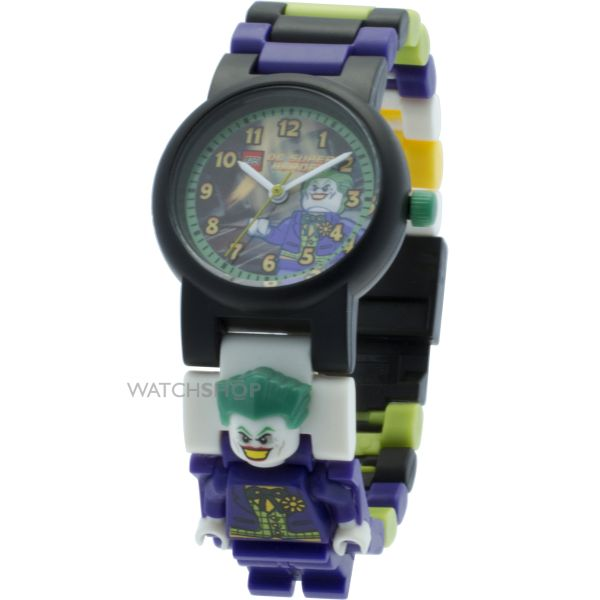 Childrens LEGO DC Super Heroes Joker Minifigure Link Watch 8020240