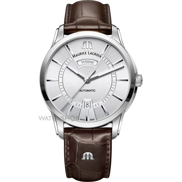 Mens Maurice Lacroix Pontos Day-Date Automatic Watch PT6358-SS001-130-1