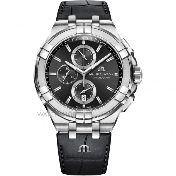 Mens Maurice Lacroix Aikon Chronograph Watch AI1018-SS001-330-1