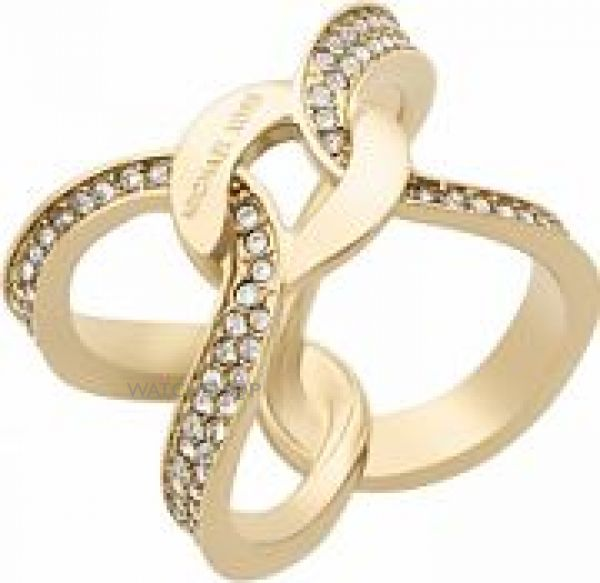 Ladies Michael Kors Gold Plated Size O Brilliance Ring MKJ5855710506