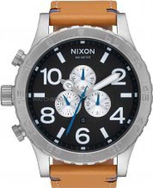 Mens Nixon The 51 30 Chrono Leather Chronograph Watch A124-2299